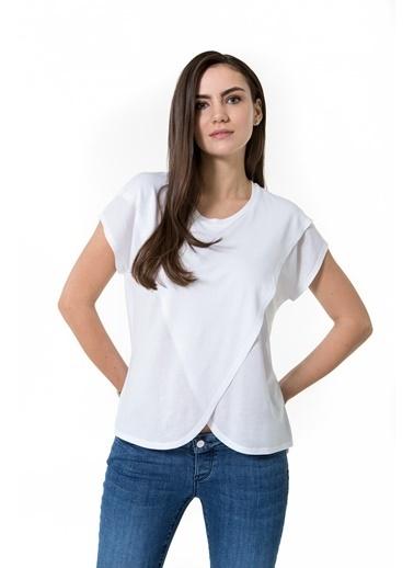 Accouchée Kolay Emzirme Özellikli Tshirt Beyaz